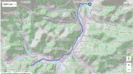Foto del mapa de la ruta Castro Cillorigo Santo Toribio de Liébana